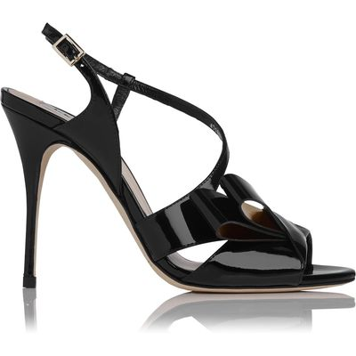 Erica Black Patent Sandals