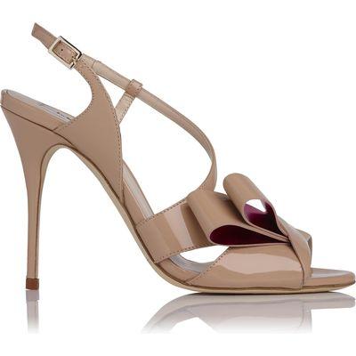 Erica Natural Patent Sandals
