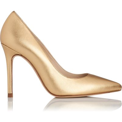 Fern Gold Metallic Leather Courts