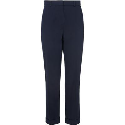 Aurelia Navy Cotton Mix Trousers