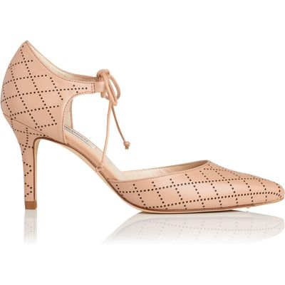 Fauna Beige Nappa Leather Open Courts