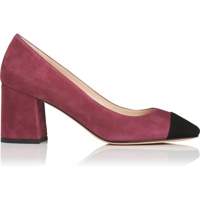 Francesca Pink Suede Closed Courts