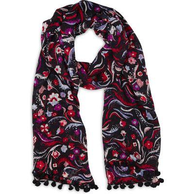 Jasmine Pink Printed Silk Scarf