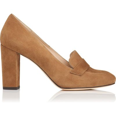 Madeleine Brown Suede Closed Courts
