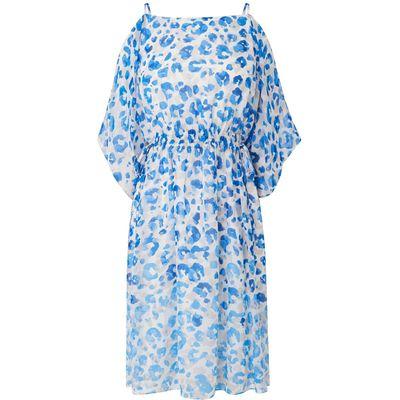 Marnie Blue Silk Printed Dress