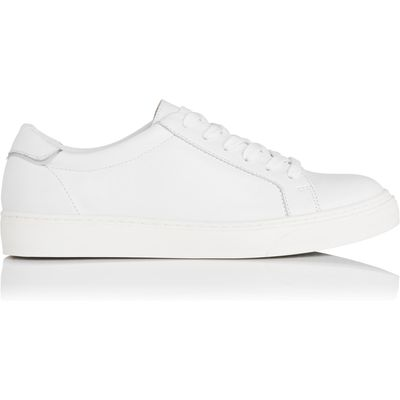 Reese White Leather Flat Trainers