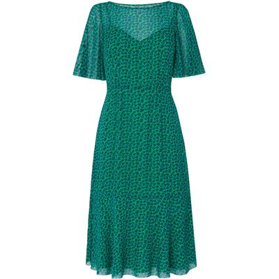 Rudy Green Silk Printed Dress
