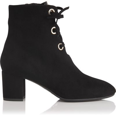 Mollie Black Suede Ankle Boots