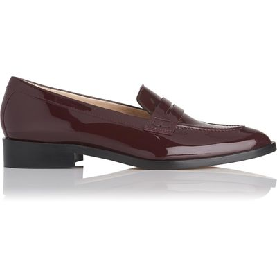 Iona Oxblood Patent Leather Loafers
