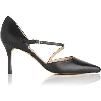 Alix Black Leather Open Courts
