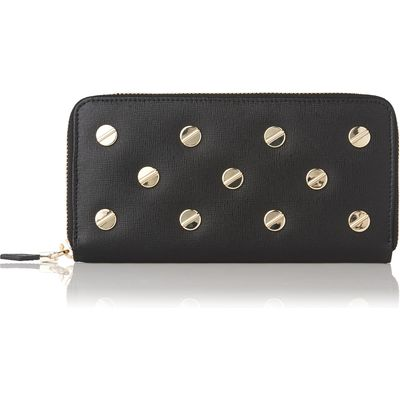 Kenza Black Leather Studded Purse