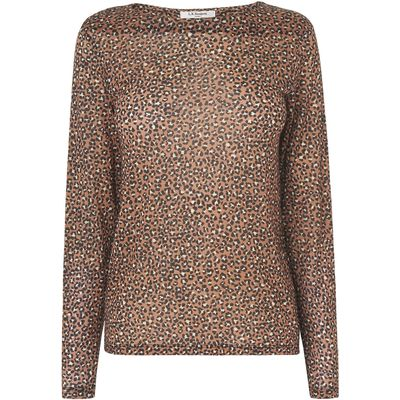 Electra Animal Print Wool Top