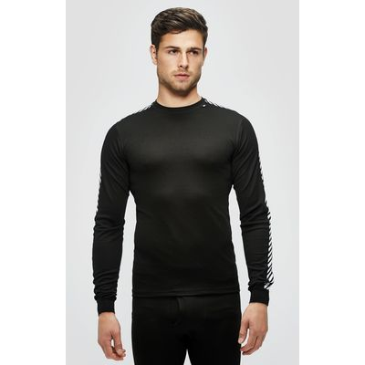 Men's Helly hansen HHDry Stripe Crew Baselayer - BLACK/BLACK, BLACK/BLACK