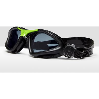 Men's Aqua Sphere Kayenne Regular Fit Tinted Lens Goggles - Black/Green/Black/Green, Black/Green/Bla