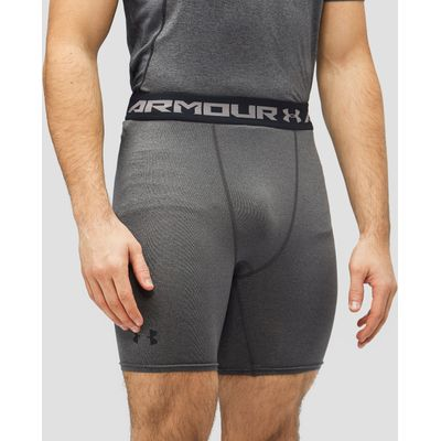 Men's Under Armour HeatGear Armour Compression Shorts - Grey Marl/Grey Marl, Grey Marl/Grey Marl