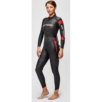 Women's Orca Predator Long Sleeve Wetsuit - Black/ Red, Black/ Red
