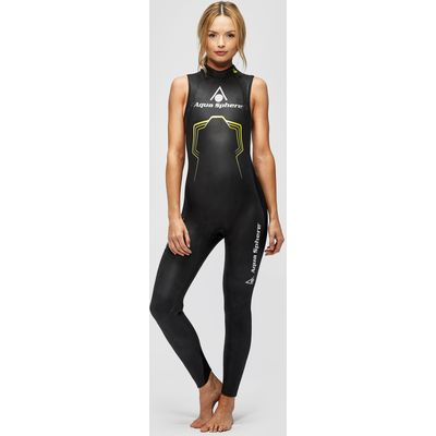 Women's Aqua Sphere Pursuit Sleeveless Wetsuit - Black/Black, Black/Black