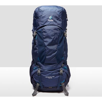 Men's Deuter Aircontact Pro 60 + 15 Rucksack - Midnight Blue, Midnight Blue