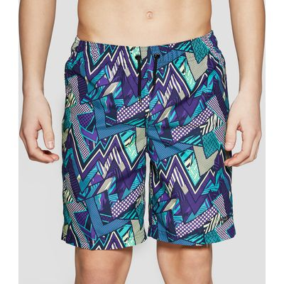 Speedo Electro Camo Print Junior Swimming Shorts - Purple/Blue, Purple/Blue