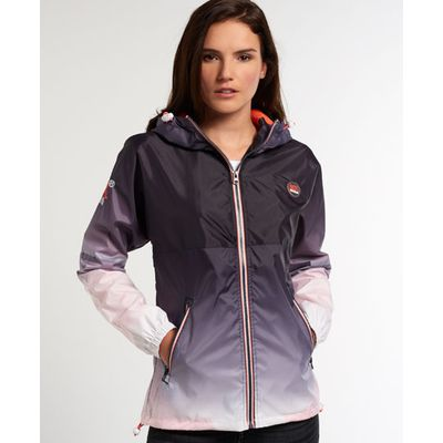 Superdry Tri Colour Zip Through Spray Cagoule