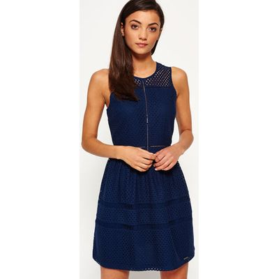 Superdry Geo Lace Mix Skater Dress