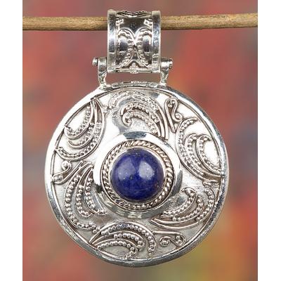Lovely Handmade 925 Silver Natural Lapis Lazuli Gemstone Pendant BJP-920-LP