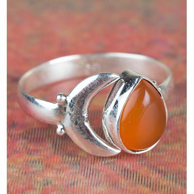 Charming Carnelian Silver Gemstone Ring Handmade Woman Jewelry BJR-342-CA