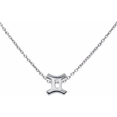 Silver Gemini Necklace, 925 Sterling Silver  Necklace, Zodiac Symbol Horoscope