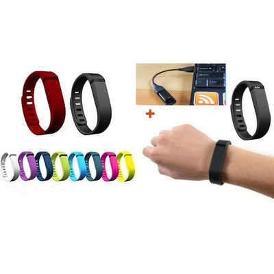 10 Pcs Replacement Band for Activity Trackers , Tracker Not Included 4 FitBit Fl