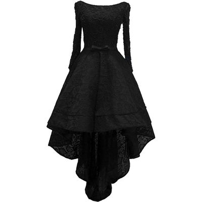 Lemai Beaded Lace High Low Long Sleeves Prom Homecoming Cocktail Dreses Plus ...