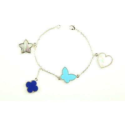 Mixed cluster  bracelet