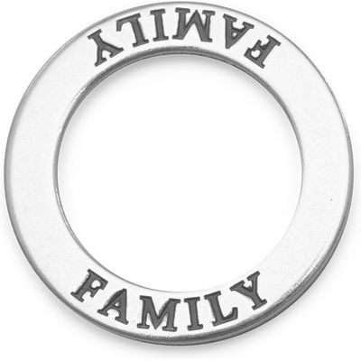 Sterling Silver Family Circle Floating Pendant