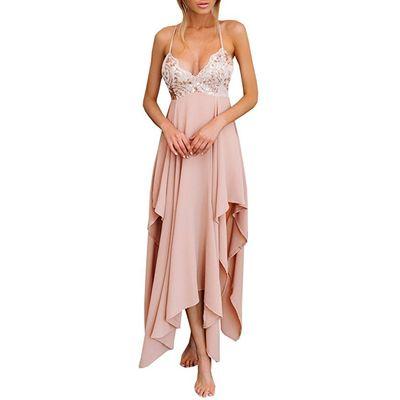 Boho Pink Prom Dress Gown 2017,Homecoming Dress Formal Cocktail Dress,Maxi Dress