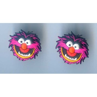 CROCS SHOE CLOGS CHARMS Sesame Street Muppet Movie Animal 1 Pair 2pc