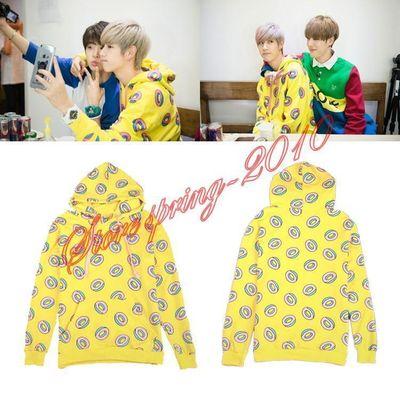 Kpop GOT7 Just Right Mark BTS Jung Kook Donut Hoodies Women Jumpers Sweat size:M