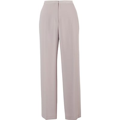 Chesca Stitched Waist Satin Trousers, Beige