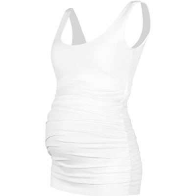 5052168016404 | Isabella Oliver The Maternity Tank Top  White Store