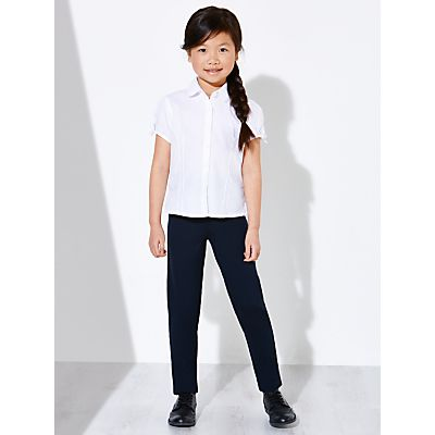John Lewis Girls' Slim Fit Soft Stretch School Trousers