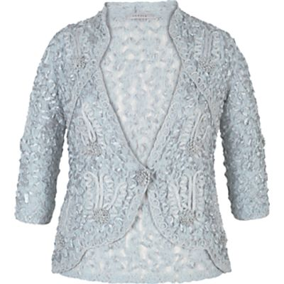 Chesca Cornelli Trimmed Lace Jacket