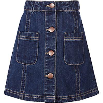 John Lewis Girls' Denim Skirt, Blue