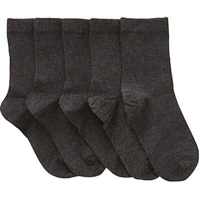 John Lewis Children's Cotton Rich Socks, Pack of 5