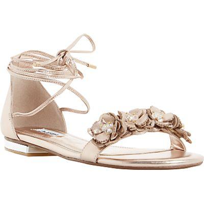 Dune Nigella Floral Tie Sandals
