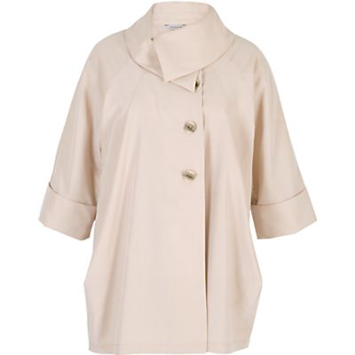 Chesca Large Collar Coat, Beige
