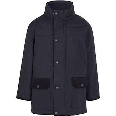 John Lewis Boys' 3-in-1 Waterproof School Coat, Navy
