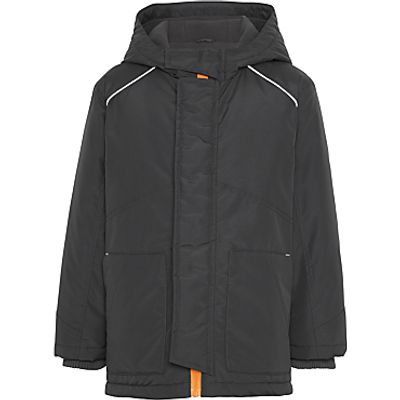 John Lewis Boys' Contrast School Coat, Charcoal