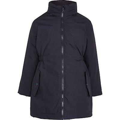 John Lewis Girls' 3-in-1 Waterproof School Coat, Navy
