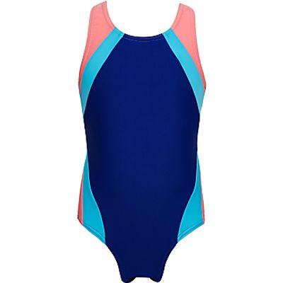 John Lewis Girls' Colour Block Racer Back Swimsuit
