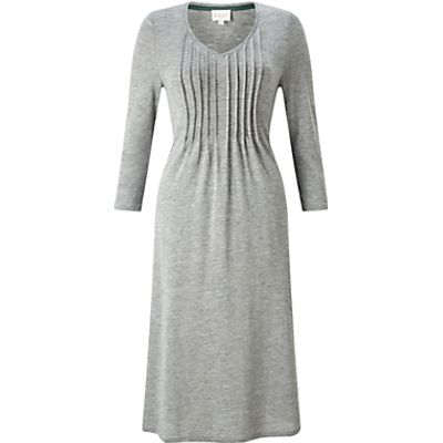 East Pintuck Flared Dress, Greystone