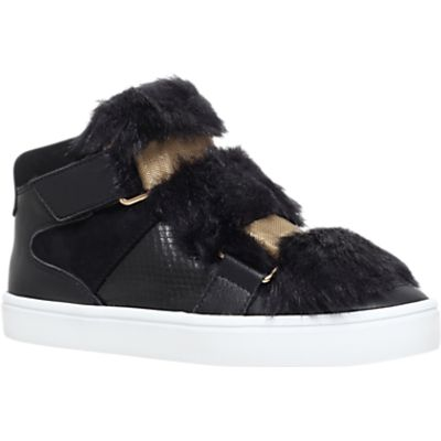 Carvela Lovely Rip Tape Trainers, Black
