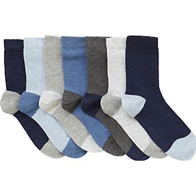 22885265 | John Lewis Children s Marl Socks  Pack of 7  Blue Grey Store